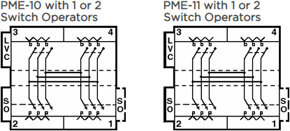 PME-10 with 1 or 2 Switch Operators, PME-11 with 1 or 2 Switch Operators